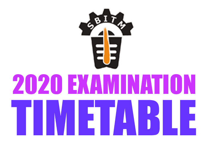 Timetable Examination June 2020